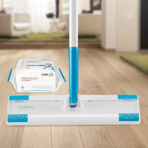 Floor Wipe Disposable Dust Flat Mops with 25 Dry Refill Floor Wipes Pads for Wood Tile Laminate Sweeper Broom Clean Tools