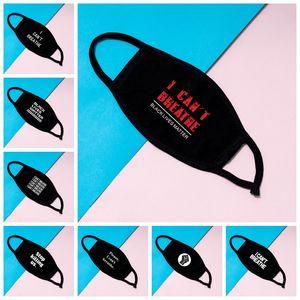 Eu não posso respirar máscara máscaras preto Vidas Matéria Rosto Máscaras George Floyd adultos lavável reutilizável Máscara Facial Designer 12styles RRA3128
