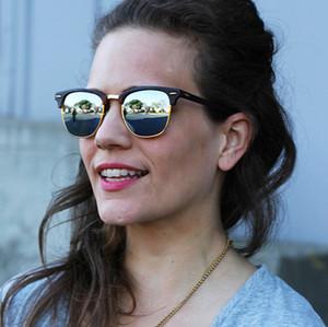 El diseñador de moda Marca gafas de sol polarizadas Hombres Mujeres piloto gafas de sol UV400 Gafas Bans marco de los vidrios del metal de la caja de lente Polaroid Con