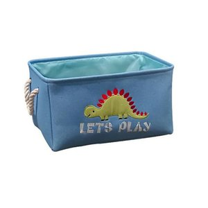 Cartoon Dinosaur Basket Storage Closet Toy Box Container Organizer Fabric Basket Home Desktop Storage Basket Bags
