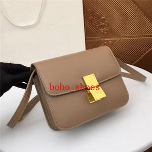 Дизайнер сумки моды ретро кожа одно плечо флип пряжки пряжки сумка диагональ пакет сумка конструктора с коробкой