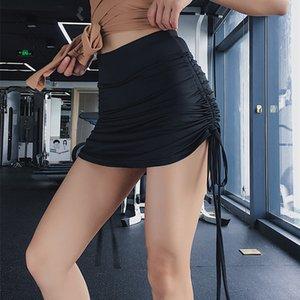 Vertvie Women High Waist Yoga Shorts Push Up Fitness Short Legging Slim Gym Trunks Running Tight Sportswear Solid Shorts skirt