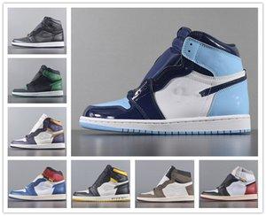 Haut de nouvelles chaussures de basket-ball concepteur Obsidian UNC Courageux First Class Flight PHANTOM TURBO rouge 1 hommes formateur Backboard sneakers sport femmes