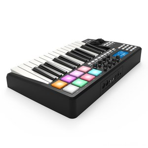 WORLDE PANDA25 Compact 25-Key USB MIDI Keyboard Controller 8 RGB Colorful Backlit Electronic Keyboards Keyboards Trigger Pads with USB Cable