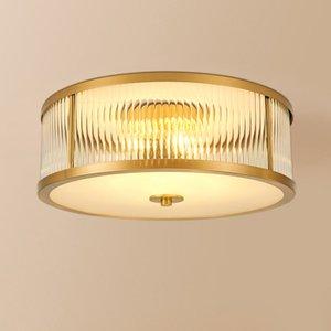 SME Nordic LED soffitto Lights Luxury Vintage vetro rame luminarias para teto Soggiorno Camera da letto del soffitto Illuminazione