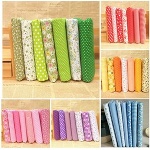 High Quality 6 Serie Floral Series Cotton Patchwork Fabric Fat Quarter Bundles Fabric For Sewing Doll Cloths 50*50cm 7pcs lot