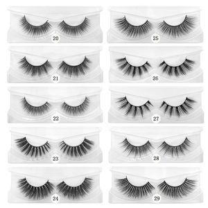 10 Styles 15mm Eye Lashes 3D Mink Eyelashes Custom Private Label Natural Long Fluffy Eyelash Extensions Eye Beauty Tool GGA3444-1
