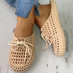 Women's flat slippers fashion hole shoes women's hollow round head summer outdoor slippers ladies sandals dropshipp