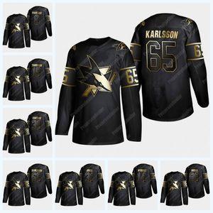 San Jose Sharks 2019 Golden Edition Jersey de béisbol Erik Karlsson Evander Kane Joe Pavelski Brent Burns Logan Couture Joe Thornton Dillon