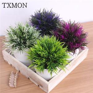 Txmon Planta Artificial Em Vasos Conjunto de 32 cabeças Phoenix Simulação Planta Flor Bola Grama Bola Falso Flor Casa Decoração Do Casamento C19041302
