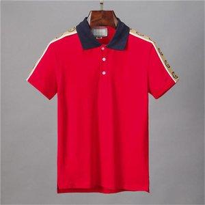 2020SS Bahar İtalyan tişört MedusaPolo gömlek cadde nakış jartiyer yılan küçük arı, baskılı giyim erkek Polo gömlek M-3XL