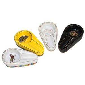 Posacenere singolo cigaro supporto rotondo slot di cenere posacenere ceramica 3 colori tabacco ash per fumare GWB4268