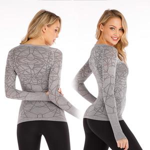 lu 016 Yoga Serve T Shirt Mulher Aranha manga comprida major Musculação Sirva auto-cultivo Jacket Ventilação Divisão Conjunta