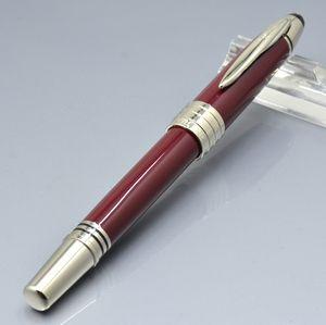 precio al por mayor de vinos JFK pluma de bola de rodillo rojo / bolígrafos dama de la moda papelería de oficina Bolígrafo para el regalo de Navidad