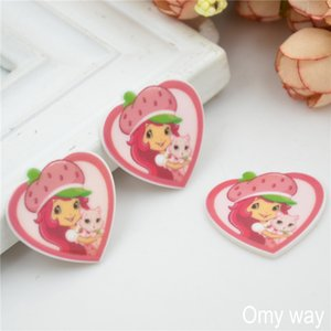 32 Options 60pcs lot Cartoon Character Girls 2 Resins Flatback for Hair Bows Hair Accessories Planar Resin Crafts DIY Decorations