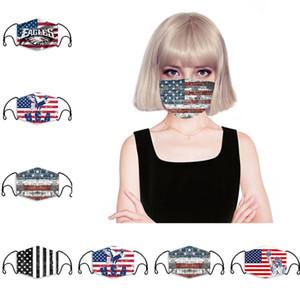 6color 3D Print Mask with American Flag Mouth Masks Anti Dust Washable Reusable Face mask cover Designer mask 150pcs T1I2096