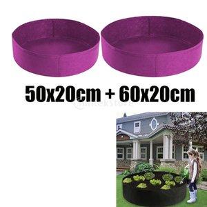 50 & 60cm Purple Felt Fabric Raised Garden Bed Grow Bags Wide Use Holds Soil