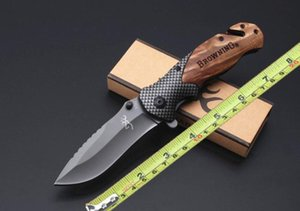 TOP wholesale Browning X50 COLD STEEL Folding knives Fold Assist 5Cr15Mov blade with box Pocket knife A07 A16 616 Camping push Hunting Knife
