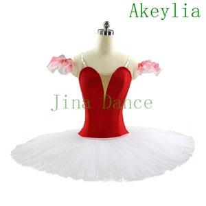 tutu ballet professionnel blanc rouge Platter Ballet Tutus pour adultes Tutu Ballet Concours de costumes filles blanc noir classique Costume Tutus