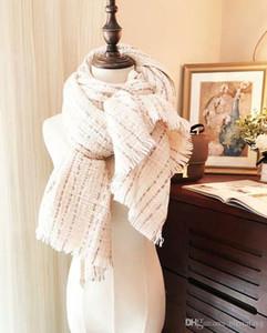De luxe Femmes Épais cachemire foulards 210*80 cm Longues Écharpes Et Châles Wraps Hijabs Pashmina Marque Designer silencieux Dame D'Hiver Écharpe femelle