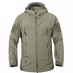 New mens designer winter coats outdoor tactics warm cardigan fleece coat mens thickening charge coat mens designer jackets
