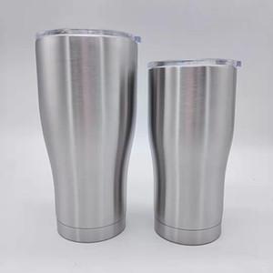 30 oz Suya Dayanıklı Kapaklı mandal Paslanmaz Çelik mandal Kahve Bira kupa Çift Duvar Vakum İzoleli Seyahat Mug kavisli