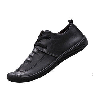 mens autumn 2019 new Korean version of the trend of a pedal shoes men soft bottom business leather men's shoes