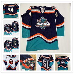 1995 Retro New York Islanders Jersey Hockey Wendel Clark Zdeno Chara Brett Lindros Andrew Ladd Bertuzzi Navy Blue White Alternate Stitched