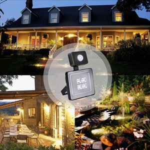 10W LED Floodlight Outdoor Waterproof LED Infrared Sensor Light Body Sensor Intelligent Automatic Home Doorway Aisle Nightlight