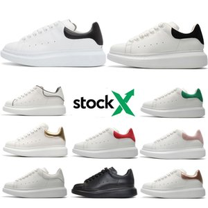 Stock X Men Casual Shoes black suede Leather white reflective grey golden Mens Womens Sneakers Party Platform Shoes Spor Chaussures Sneakers