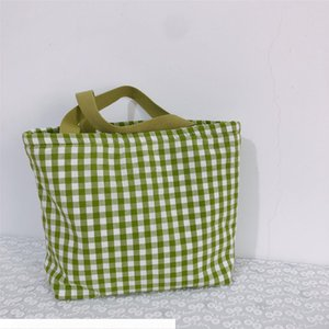 Buffalo Check Handbag Cotton Plaid Shoulder Bag Women Shopping Bags Large Capacity Travel Tote Sports Storage Bags Lunch Handbags GGA3480-4