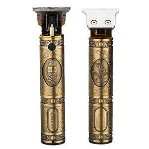 Trimmer retro Öl Kopf Klipper T9 professionellen Bartschneider New Gold elektrische USB aufladbare Männer