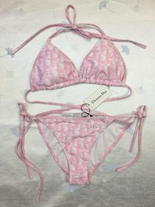 2020Kim kardashian zwei Stück sexy Bikini-Frauen reizvolle Badebekleidung Neue Schwimmen Badeanzüge High Cut Damen Monokini Maillot De Bain