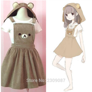 Bear Rilakkuma Sangles Lolita Bretelles Bretelles Mori Fille Kawaii Robe École Vêtements Vestido Ship de US Dropping Expédition MX200508