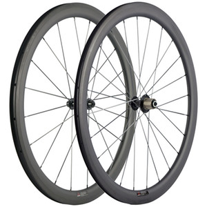 A Pair Cycling Carbon Wheels 40mm 3k Matte With 3k Brake Surface Wheels Carbon Road Bike Wheelset With Black R13 Hub 25mm Wheels