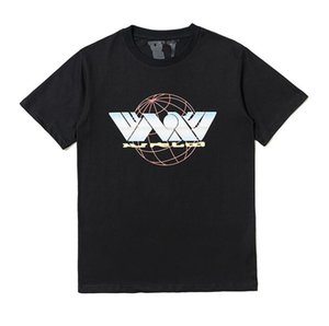 Tide brand v and lone short-sleeved flame ball big V printed loose T-shirt men and women with the same paragraph couple hip-hop TEE