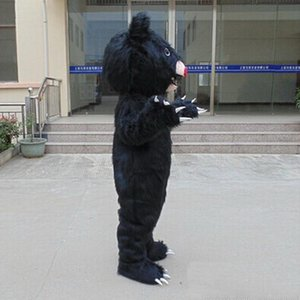 2019 Fabbrica vendita diretta EVA Materiale Casco Polo Nord orso nero Mascotte Costumi Cartoon Apparel Festa di compleanno