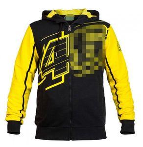Valentino Rossi VR46 Motorcycle Zipper com capuz Jacket Casual Sweater Jacket Equitação 4677