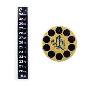 Dual Scale Acuario Tanque Termómetro Líquido Termómetro Temperatura Stick-On Fahrenheit Digital LCD Adhesivo Strip Sticky DBC VT0200