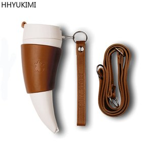 wholesale Chifres de cabra de aço inoxidável caneca térmica caneca de café copo de isolamento balão de vácuo casal viajando garrafa de água quente