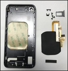 Para el iPhone 7 7Plus Receptor de cargador inalámbrico flex Para iPhone 8 Estilo de vidrio con carcasa de marco de metal Reemplazo para iPhone 6G 6S 6Plus 7 7P