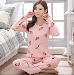 Vente Factory 2018 WAVMIT femmes Pyjama Costumes Lovely Home Costume de nuit manches Pyjama confortable fille Pijamas Mujer
