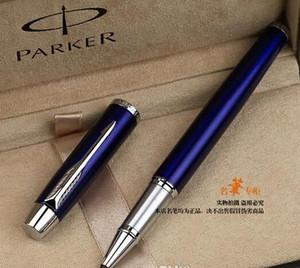 Envío gratuito Parker azul de plata del rodillo bolígrafo Firma bolígrafo multicolor de plumas de gel de oficina de la Escuela de Escritura de Proveedores de escritorio