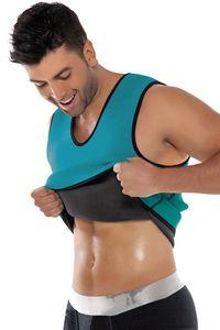 Men Sauna Vest Shirt Slim Waist Trainer Male Body Control Bodysuit for Workout Weight Loss Corset Shapewear Abdomen Shaper Top