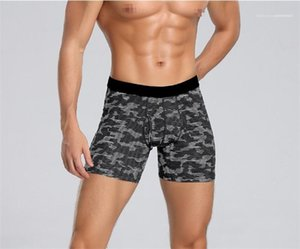 Drying Male Underwear Geometric Printed Mens Boxers Sports Skinny Low Waist Mens Underpants Fashion Designer Quick