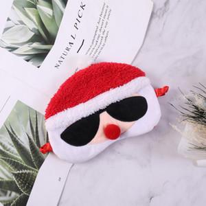 Máscaras de dormir Papai Noel Máscara de Olho Personalidade moda Sono Macio Sombra de Viagem Capa Venda Ferramentas de Dormir Presentes de Natal