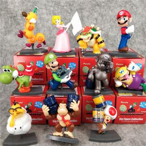 Цифры Игрушки Mario Bros Набор 11box / серия Peach Princess Daisy Жаба Марио Луиджи Йоши Donkey Kong ПВХ Цифры игрушки