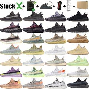 Kanye West para hombre de ceniza Yecheil White Cloud Negro estático reflexiva de los zapatos corrientes Yeshaya Luz trasera Bred cebra mujeres de los hombres zapatillas de Formadores