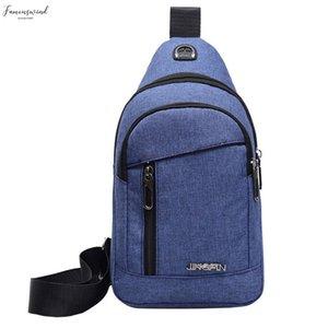 Women Messenger Bag Men Shoulder Bag Neutral Outdoor Sports Oxford Cloth Shoulder Bag Chest Waist 2020