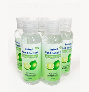 En stock Lime odeur Désinfectant pour les mains Gel avec la vitamine E jetable No Clean Waterless 100 ml antibactériennes